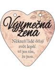 Albi Závěsná plaketka srdce Výjimečná žena 9 x 10 cm