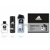 Adidas Dynamic Pulse voda po holení 50 ml + 3v1 sprchový gel na tělo a vlasy 250 ml + deodorant sprej 150 ml, kosmetická sada