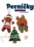 Albi Perníček, voňavá vánoční ozdoba Miluji tě sob 8 cm