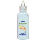 Amos Barvy na sklo 22 ml s konfetami - Modrá