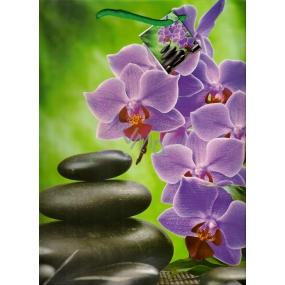 Nekupto Dárková papírová taška střední 1020 50 KFL orchidej 32,5 x 26 x 13 cm