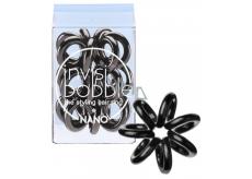 Invisibobble Nano True Black Gumička do vlasů černá spirálová 3 kusy