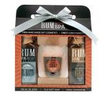 Bohemia Rumová kosmetika sprchový gel 100 ml + ručně vyráběné tuhé mýdlo (panák) + olejová lázeň 100 ml, kosmetická sada
