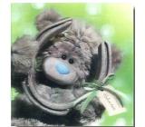 Albi Me To You Blahopřání do obálky 3D Hodně štěstí, Medvídek s podkovou 15,5 x 15,5 cm