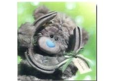 Me to You Blahopřání do obálky 3D Hodně štěstí, Medvídek s podkovou 15,5 x 15,5 cm