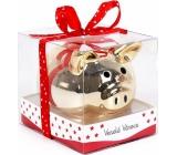Albi Pokladnička Prasátko zlaté Veselé Vánoce 6 cm