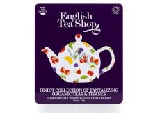 English Tea Shop Bio 72 nálevových sáčků ovocných a bylinných čajů 9 příchutí dárková kazeta čajů