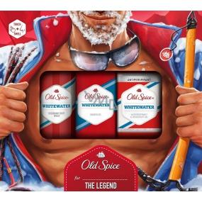 Old Spice White Water sprchový gel 250 ml + deodorant sprej 150 ml + antiperspirant stick 70 ml, kosmetická sada pro muže