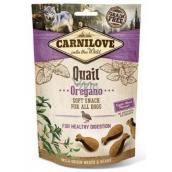 Carnilove Dog Křepelka s oregánem lahodný křupavý pamlsek pro všechny psy pro zdravé trávení 200 g