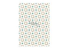 Ditipo Balicí papír bílý hvězdičky 100 x 70 cm 2 kusy