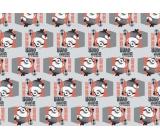 Mimoni Vánoční balicí papír pro děti červeno-šedé 2 m x 70 cm