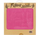 Albi Fitness ručník Maminka růžový 90 x 50 cm