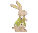 Zajíc v zeleném dřevěný na postavení 15 cm