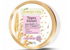 Bielenda Vegan Muesli Pšenice + Oves + Rýžové mléko vyživující tělové máslo 250 ml