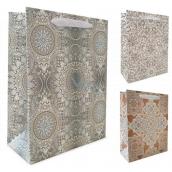 Emocio Dárková papírová taška 10 x 15 x 5 cm Ornamenty různé druhy