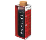 Epee Merch Friends Přátelé skleněná láhev se silikonovým návlekem 585 ml