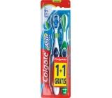 Colgate 360° Whole Mouth Clean Medium střední zubní kartáček 1 + 1 ks