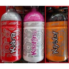 Nekupto Láhev pro zdravé pití s názvem Kryštof 0,5 l 1 kus