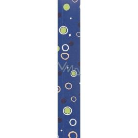 Nekupto Balící papír Klasik 813 40 BF modrý kolečka 70 x 150 cm
