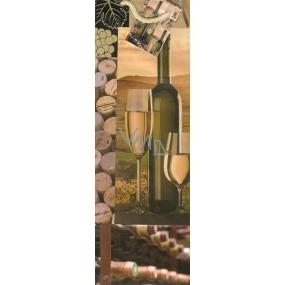 Nekupto Dárková papírová taška na láhev 1058 01 ALH víno 33 x 10 x 9 cm
