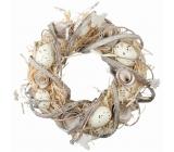 Velikonoční věnec, přírodní 22 cm