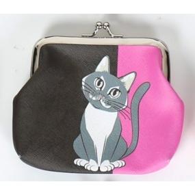 Albi Original Portmonka na klip Kočka 12 cm x 9,5 cm x 1,5 cm