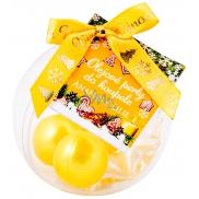 NeoCos Ananas a Lilie olejové perly do koupele žluté 5 kusů, dárkové balení