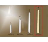 Lima Gastro hladká svíčka slonová kost kužel 24 x 300 mm 1 kus