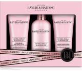 Baylis & Harding Jojoba, Vanilka a Mandlový olej mycí gel 300 ml + sprchový krém 200 ml + tělové mléko 200 ml, kosmetická sada