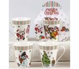 Vánoční keramický hrnek design mix Santa, Sněhulák, Stromek 310 ml