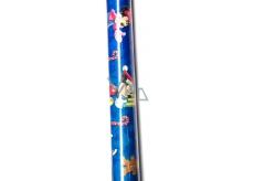 Disney Mickey Mousse a Minnie Vánoční balící papír modrý 1,5m x 0,7m