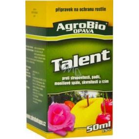 AgroBio Talent přípravek proti plísním, padlí, strupovitosti, skvrnitosti a rzím na ochranu rostlin 10 ml