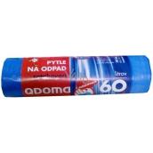 QDoma Sáčky do odpadkového koše modré zatahovací 60 litrů, 60 x 70 cm, 10 kusů