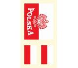 Arch Tetovací obtisky na obličej i tělo Polská vlajka 2 motiv