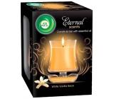 Air Wick Eternal Scents Vanilková vůně Vánoc vonná svíčka ve skle 130 g