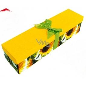 Anděl Dárková krabička skládací s mašlí na láhev slunečnice 34 x 9,5 x 9,5 cm 1 kus