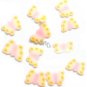 Professional Ozdoby na nehty motýlci růžovo-žlutí 132 1 balení