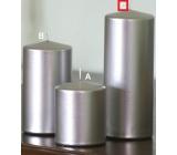 Lima Metal Serie svíčka stříbrná válec 80 x 200 mm 1 kus
