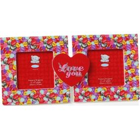 Me to You Love You Dvojitý rámeček 18,6 x 9 x 2,5 cm