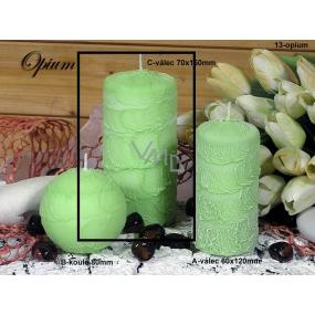 Lima Sirius Opium vonná svíčka zelená válec 70 x 150 mm 1 kus