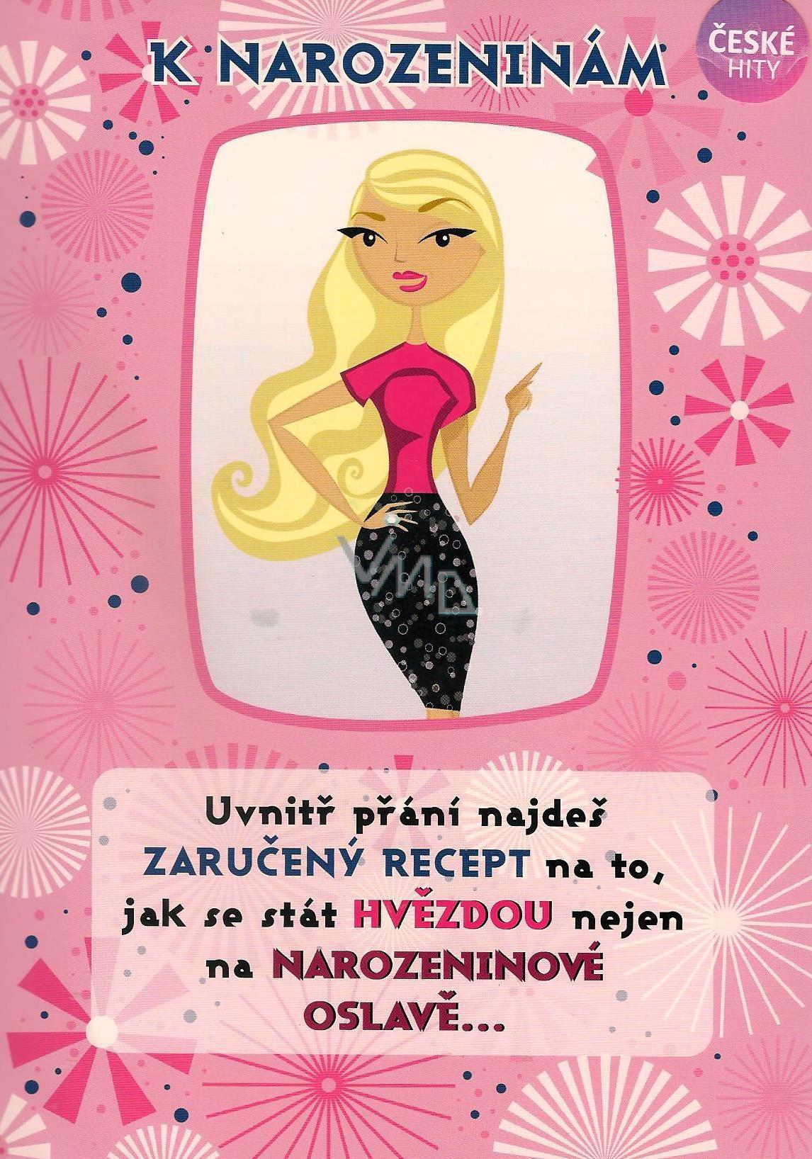 přání k 9 narozeninám Albi Hrací přání do obálky K narozeninám Když se načančám Heidu  přání k 9 narozeninám