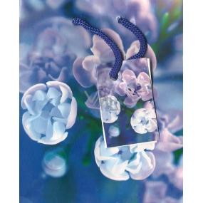 Nekupto Dárková papírová taška malá 14 x 11 x 6,5 cm modrá květiny 1163 40 BS