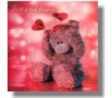 Albi Me To You Blahopřání do obálky 3D Svět je tak krásný Medvěd s čelenkou 15,5 x 15,5 cm