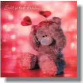 Me to You Blahopřání do obálky 3D Svět je tak krásný Medvěd s čelenkou 15,5 x 15,5 cm