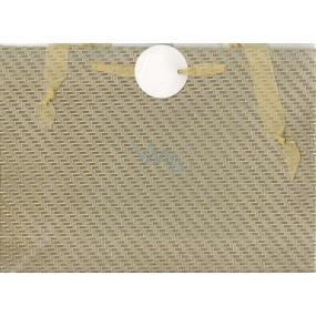 Nekupto Dárková papírová taška střední 23 x 30 cm Stříbrná glitrová 036 02 QL