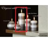 Lima Elegance White svíčka hnědá válec 60 x 150 mm 1 kus
