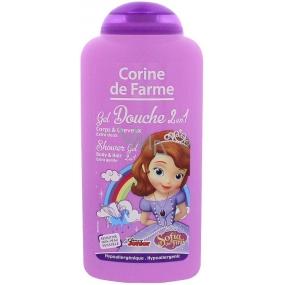 Corine de Farme Disney Princess Sofie The First 2v1 šampon na vlasy a sprchový gel pro děti 250 ml