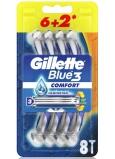 Gillette Blue3 Comfort 3 břitý holicí strojek pro muže 8 kusů