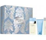 Dolce & Gabbana Light Blue toaletní voda pro ženy 50 ml + tělový krém 50 ml + toaletní voda pro ženy 10 ml, dárková sada