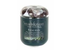 Heart & Home Říční skála Sojová vonná svíčka velká hoří až 70 hodin 340 g